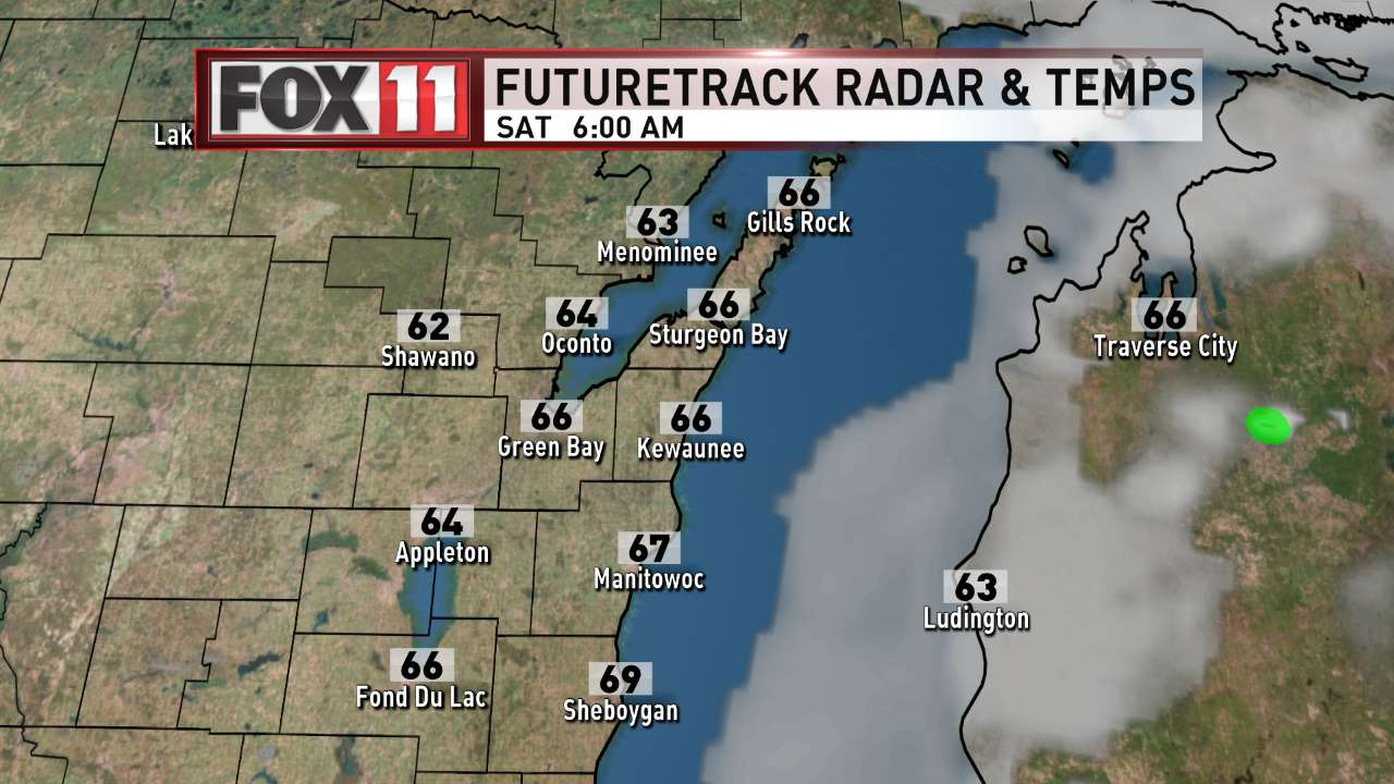 FOX 11 Weather | Northeast Wisconsin AM Day 2 Radar and Temperatures