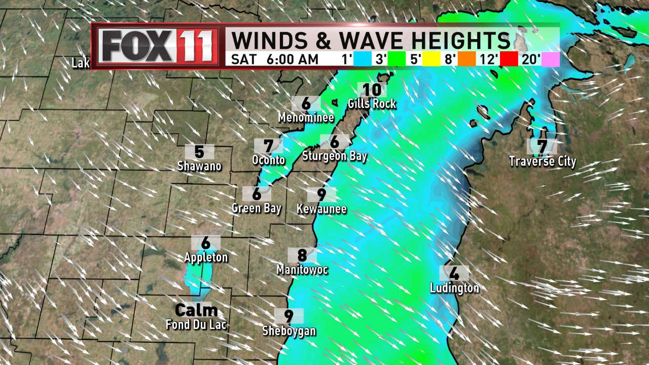 FOX 11 Weather | Northeast Wisconsin AM Day 2 Winds and Waves