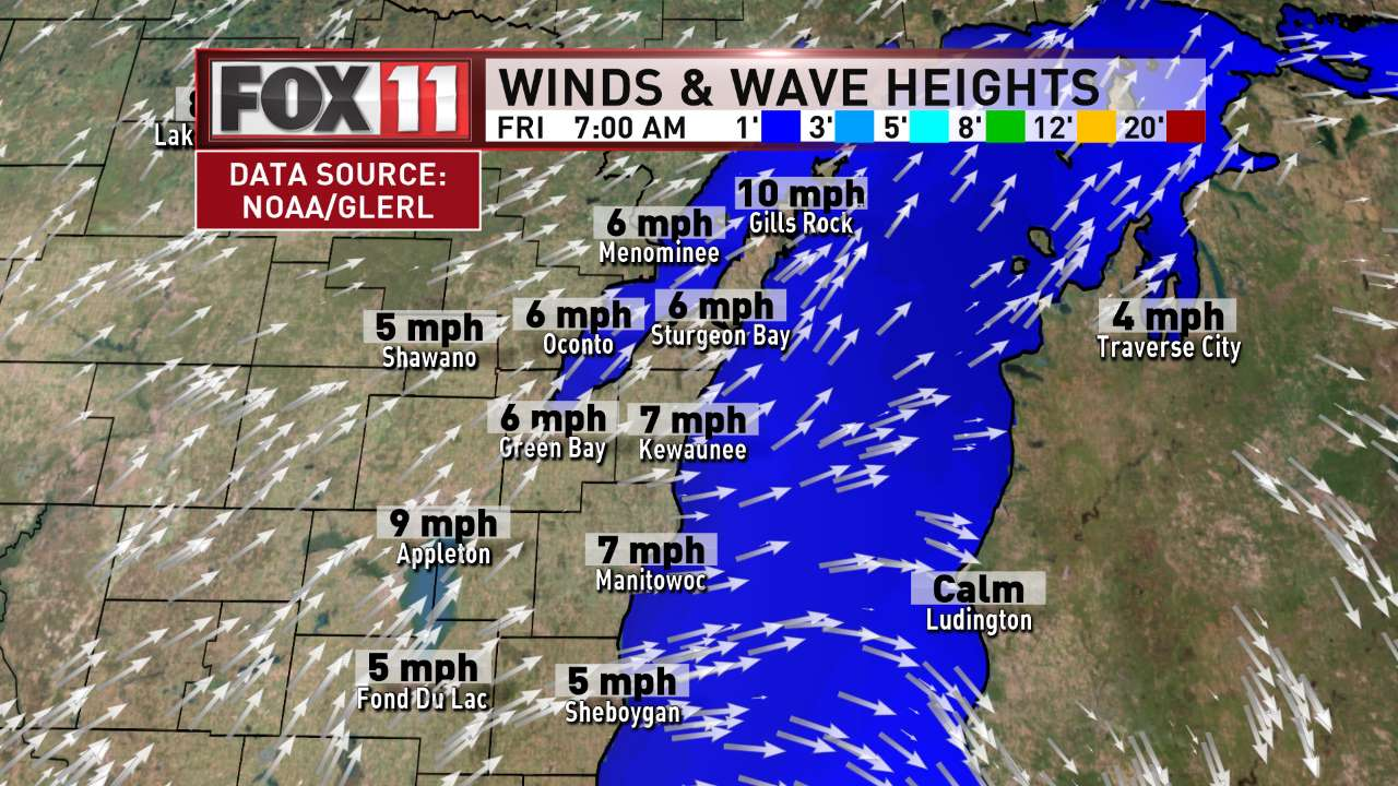 FOX 11 Weather | Northeast Wisconsin AM Winds and Waves