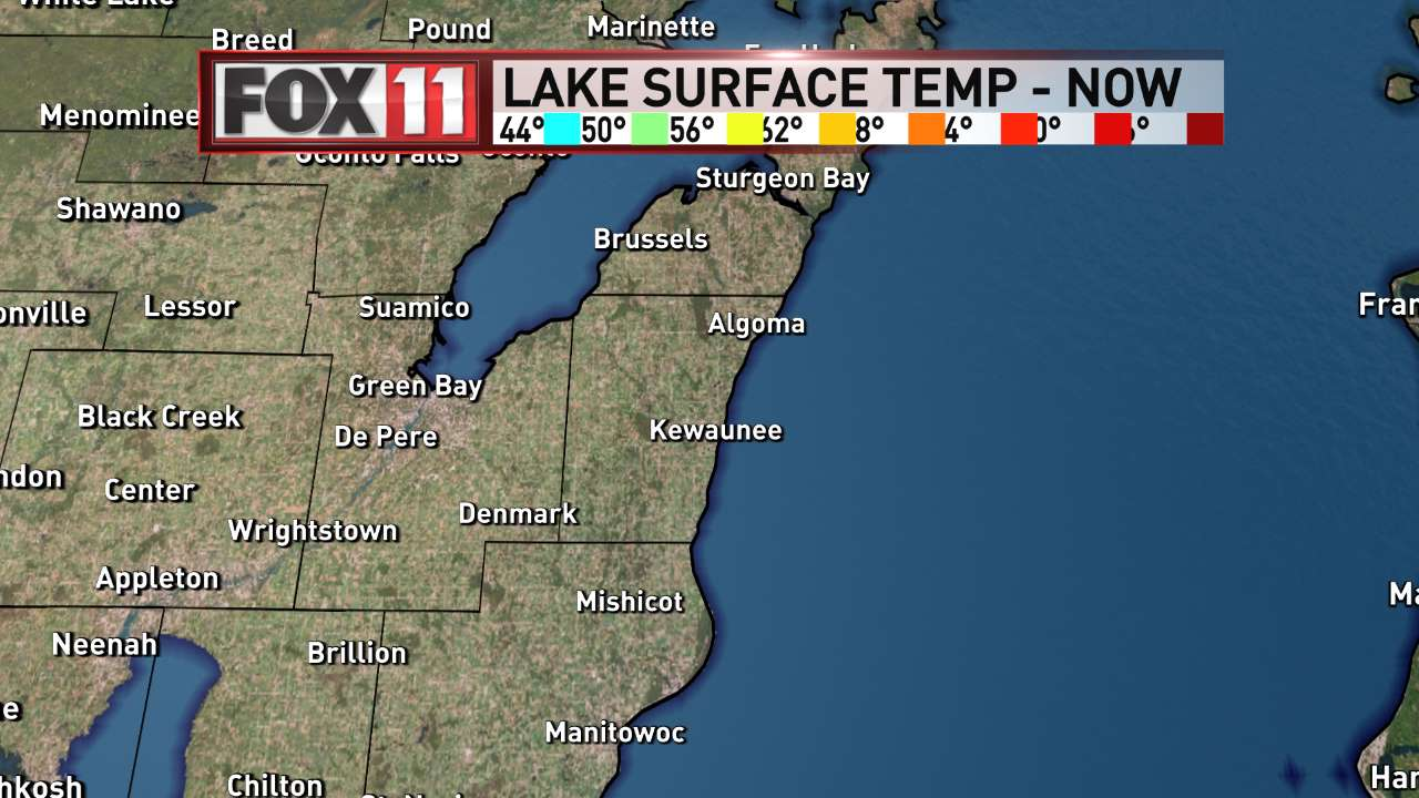 FOX 11 Weather | Northeast Wisconsin Central Lakes Water Temperatures