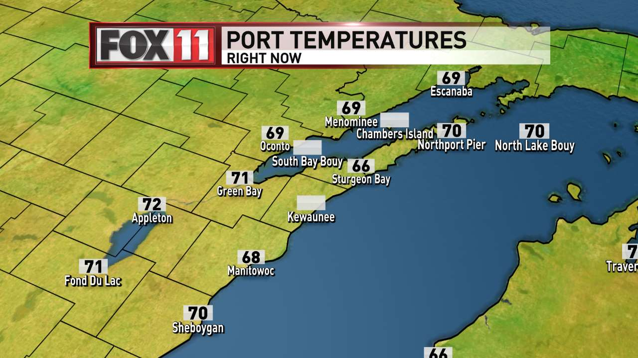 FOX 11 Weather | Current Port Temperatures