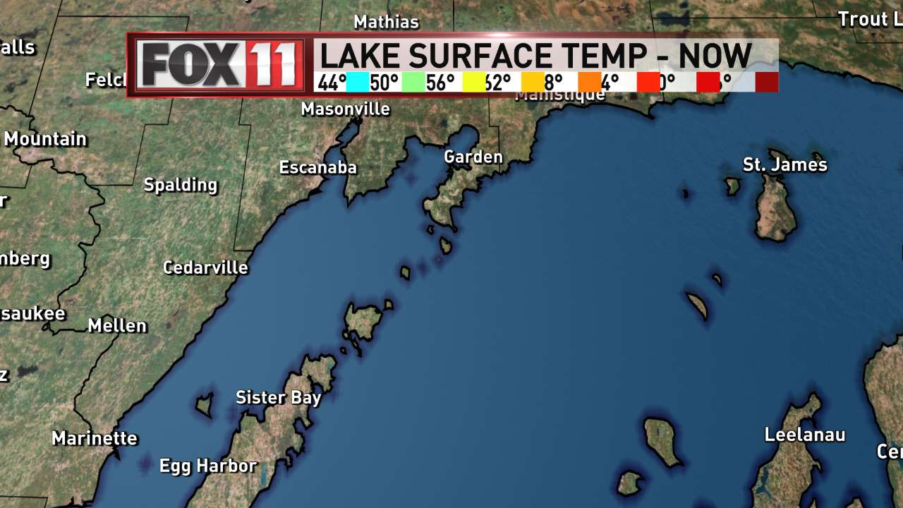 FOX 11 Weather | Northeast Wisconsin Northern Lakes Water Temperatures
