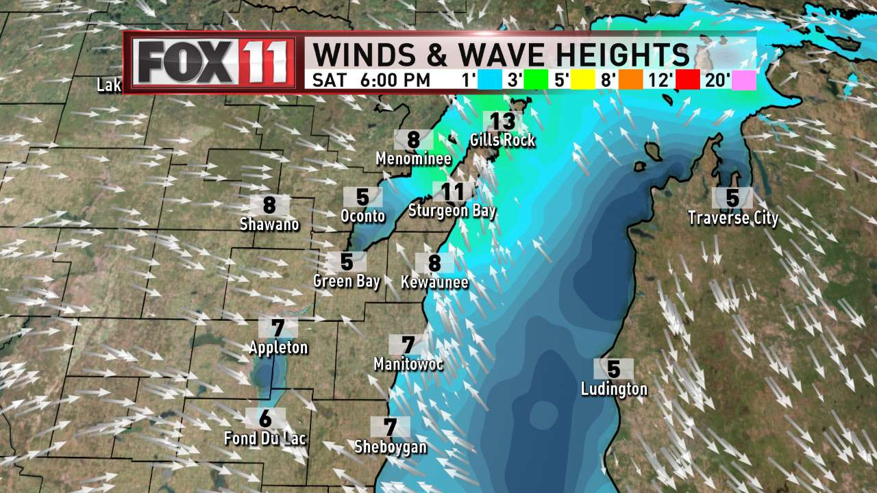 FOX 11 Weather | Northeast Wisconsin PM Day 2 Winds and Waves