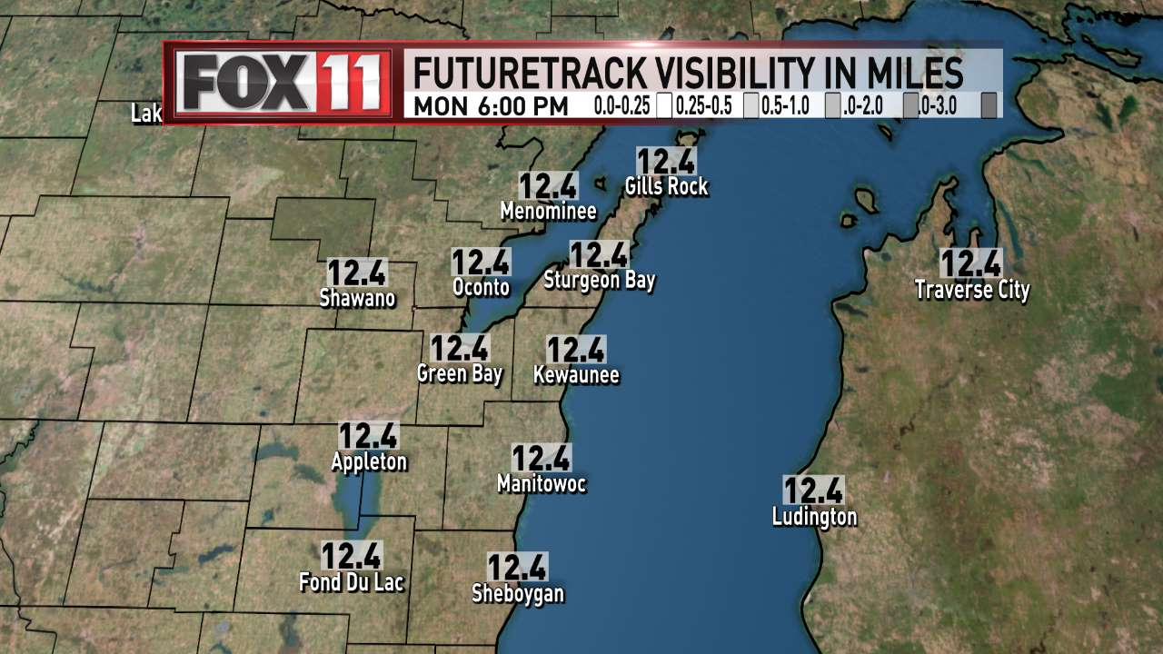 FOX 11 Weather | Northeast Wisconsin PM Visibility