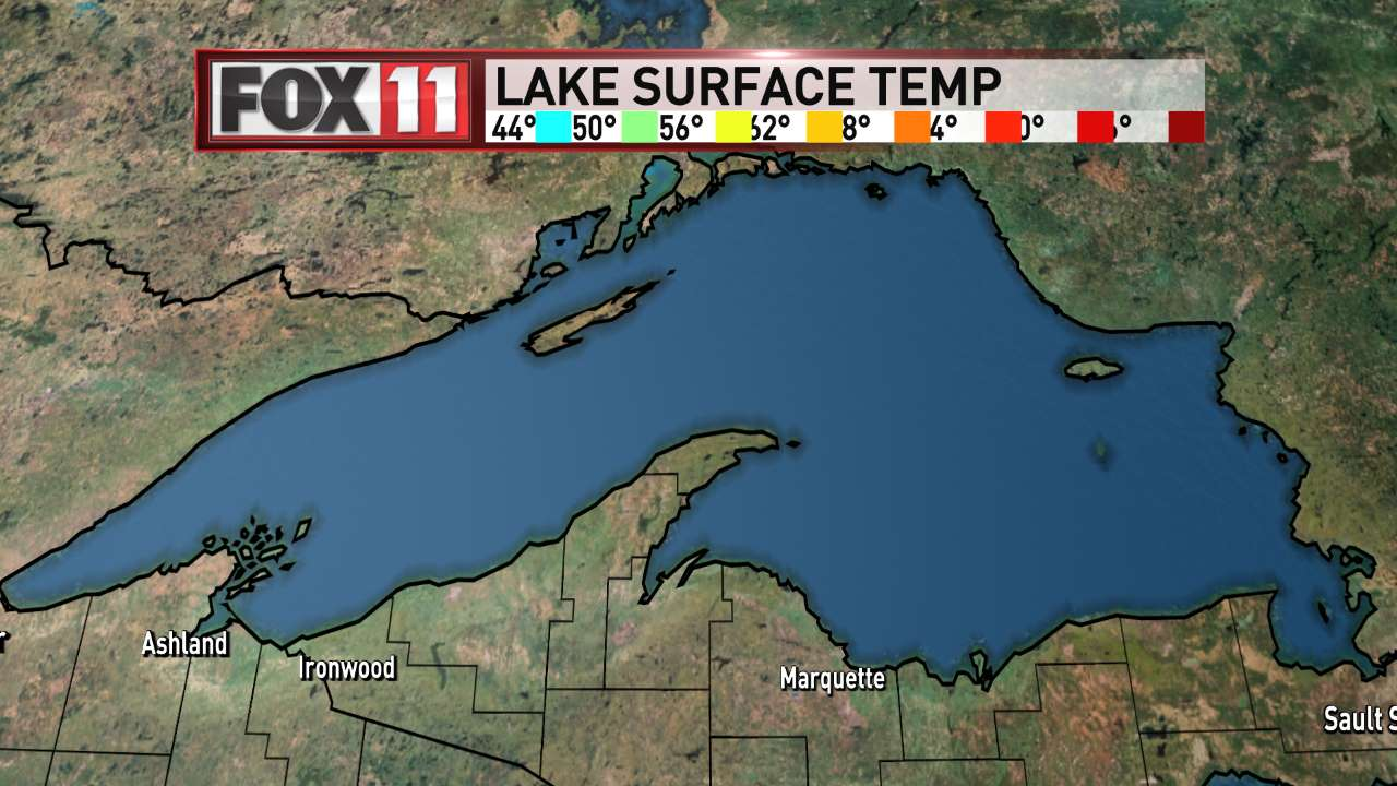 FOX 11 Weather | Lake Superior Water Temperatures