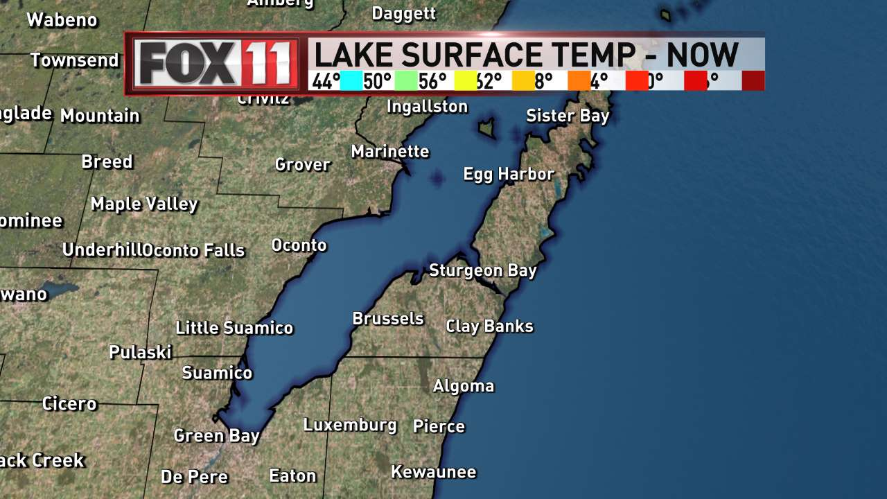 FOX 11 Weather | Bay of Green Bay Water Temperatures