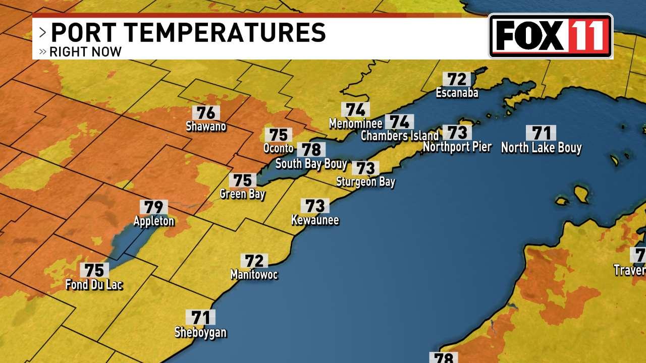 FOX 11 Weather | Current Port Temperatures