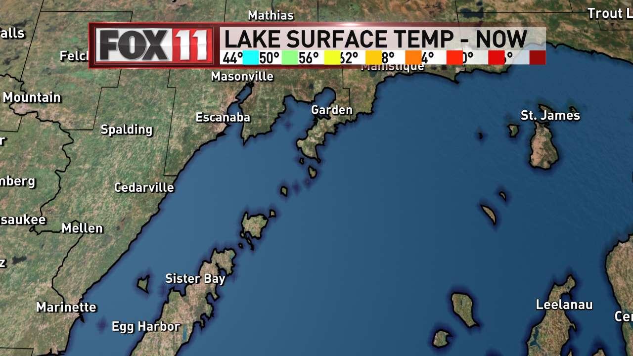 FOX 11 Weather | Northeast Wisconsin Northern Lakes Water Temperatures