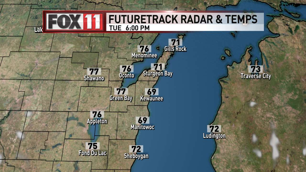 FOX 11 Weather | Northeast Wisconsin PM Day 2 Radar and Temperatures