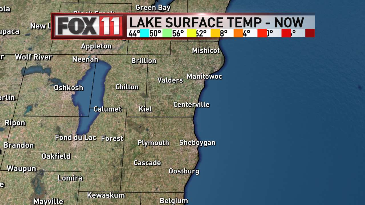 FOX 11 Weather | Northeast Wisconsin Southern Lakes Water Temperatures